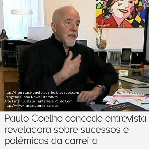 Paulo Coelho em seu Gabinete, em Genebra, Suíça, por ocasião das filmagens da entrevista concedida ao Programa Globo News Literatura