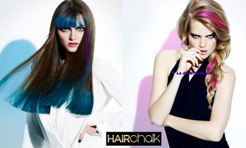 hair chalk utilisation - Coloration Temporaire Rose