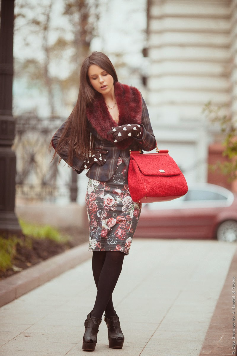 floral zara dress plaid blazer red lace sicily dolce&gabbana faux fur