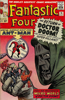 Fantastic Four #16, Dr Doom holds the FF in his hand as Ant-Man races to the rescue, Jack Kirby