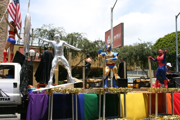 West Hollywood Pride Parade gay superheroes float 2009