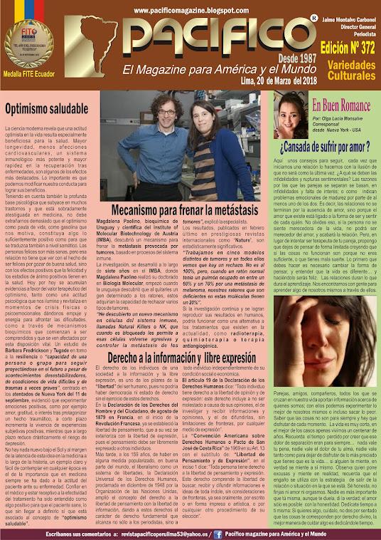 Revista Pacifico Nº 372 Variedades culturales