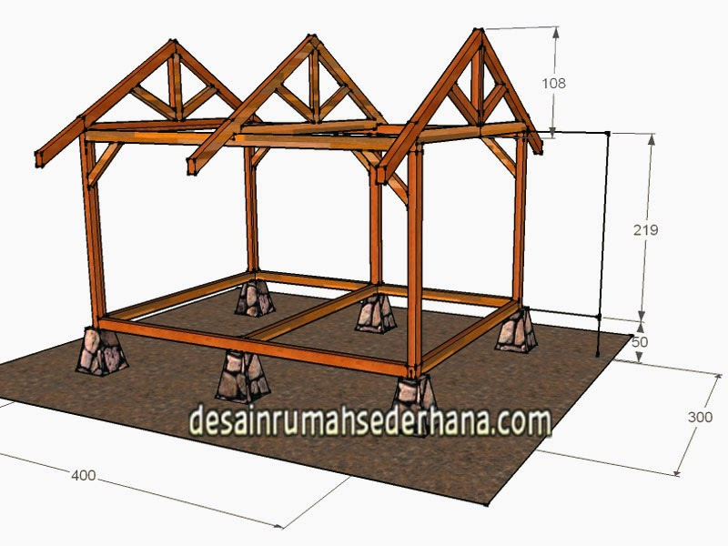 Gambar Desain Saung Kayu Mungil Untuk Kebun Dan Taman Desain Rumah