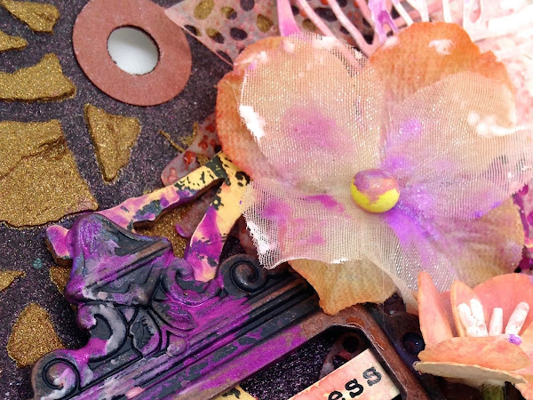 Speed Craft Challenge Blog 11 - Sparkle and Shine!! Mixed media tag