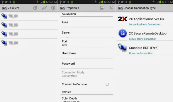 2X Client RDP_Android app