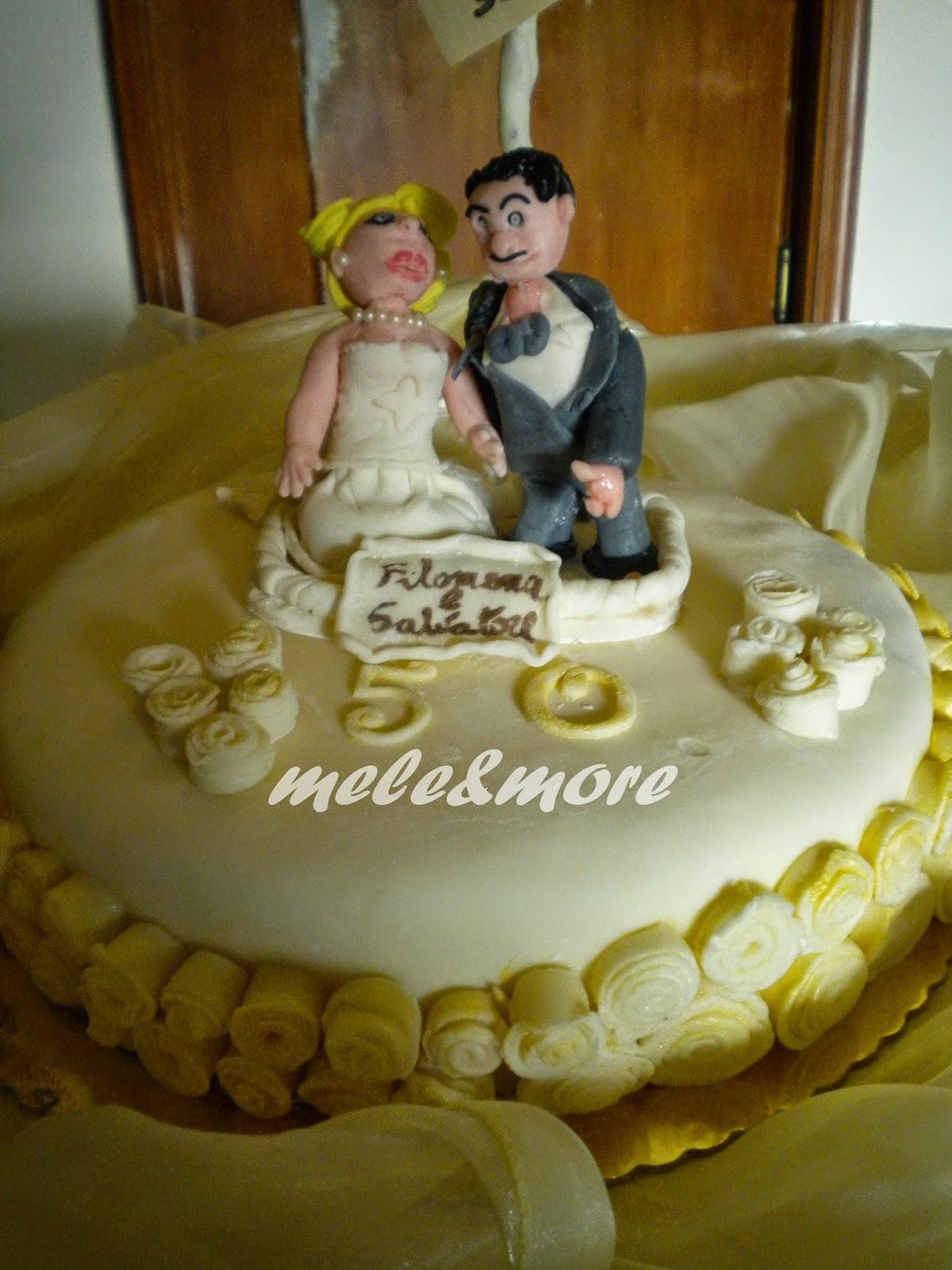 Mele more torta 50 anni insieme for Decorazioni per torta 60 anni