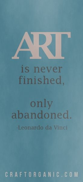Da Vinci Art Quote