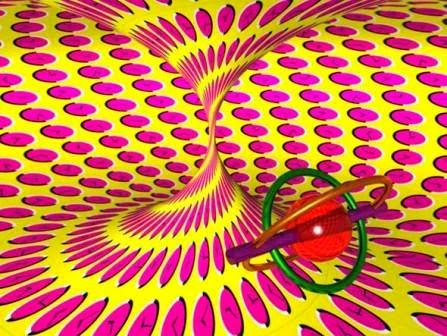 ilusiones opticas, movimiento, akiyoshi kitaoka, efectos visuales, ilusiones ópticas, relojes en movimiento, el tiempo gira, columna que gira,