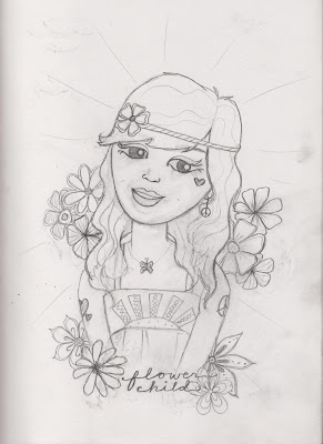 flower child sketch+%25282%2529 - How Soul Flower's Designs Come to Be