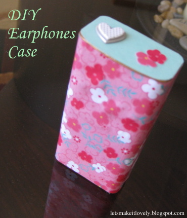 DIY Earphones Case from Chocolate Tin