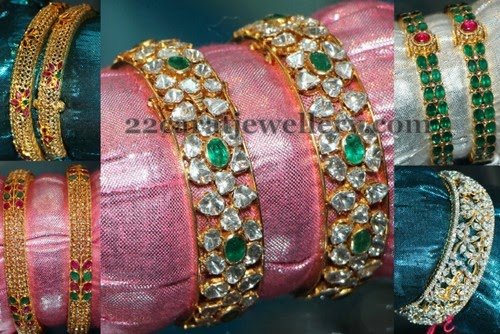 Pachi Diamond Emerald Bangles Sets