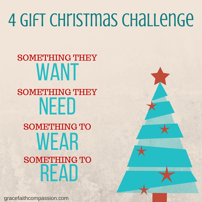 Grace.Faith.Compassion: 4 Gift Christmas Challenge {Free Printable}