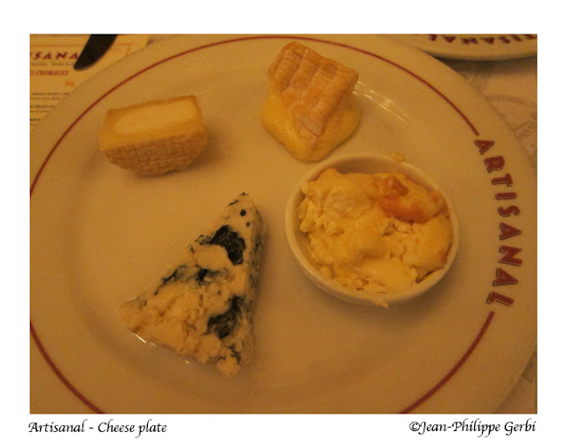 Image of Cheese plate at Artisanal Bistro and Fromagerie restaurant in NYC, New York