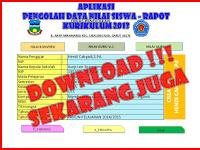 Free Download Pengolahan Data dan Nilai Siswa Kurikulum 2013