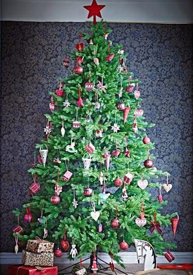 arboles coloridos de navidad