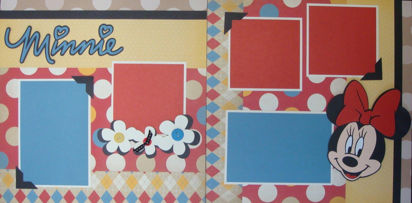 Scrapbook ideas using cricut - Disney Scrapbook Pages