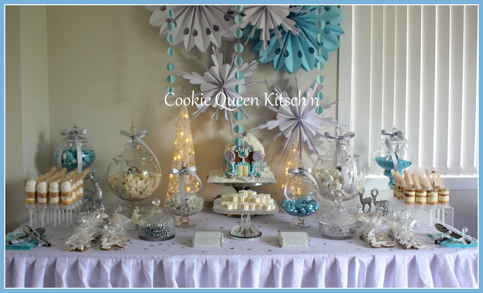 Christmas Dessert Buffet Setup
