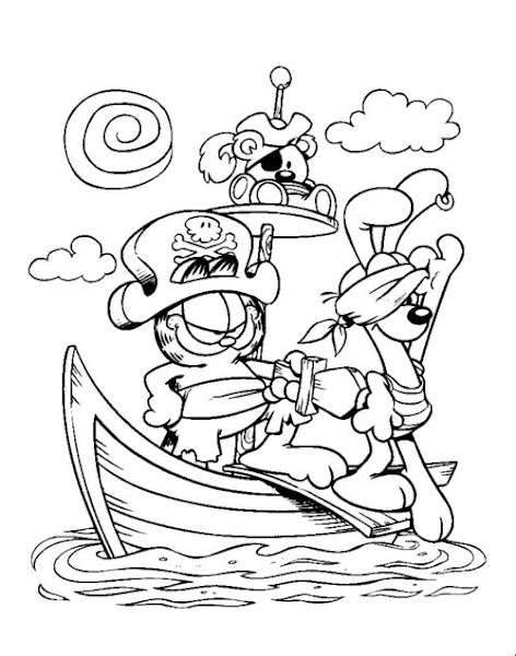Free Coloring Pages : For Kids Garfield Coloring Pages