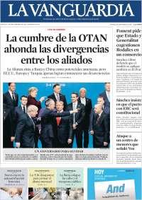 05/12/2019 PRIMERA PÁGINA DE LA VANGUARDIA  DE ESPAÑA