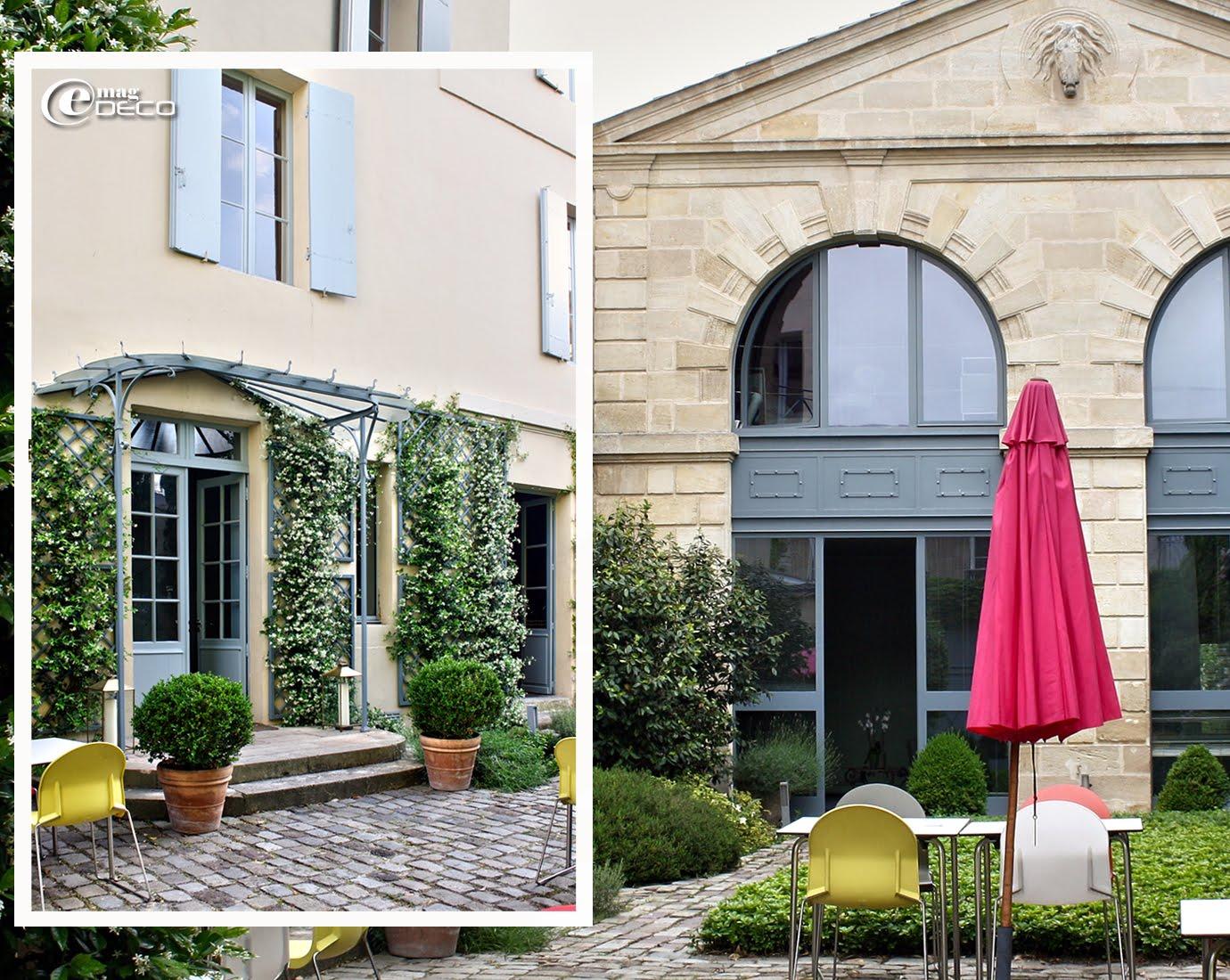Façades sur cour de La Maison Bord'Eaux, hôtel à Bordeaux