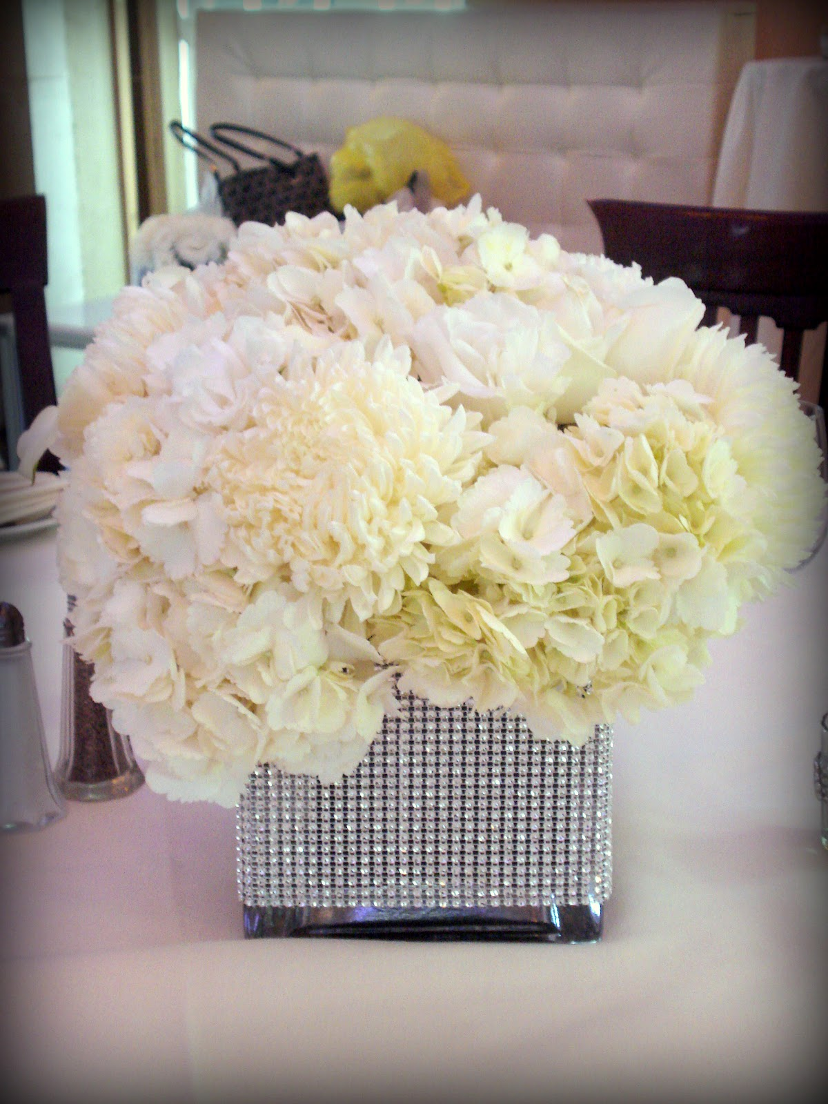 Bridal Flowers With Bling : Bling centerpieces event kings