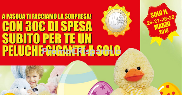Promo risparmio toys center un peluche gigante a solo 1 - Peluches a 1 euro ...