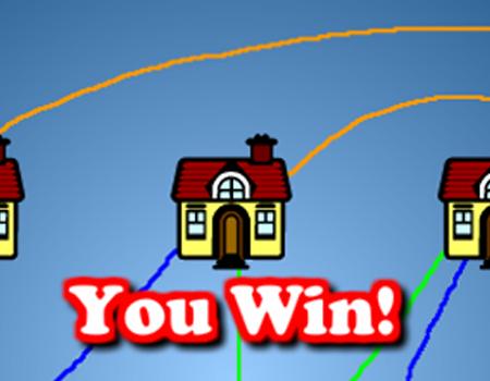 Solução. Como passar do Supuzzle, faça as 3 casas terem energia, água, e gás.