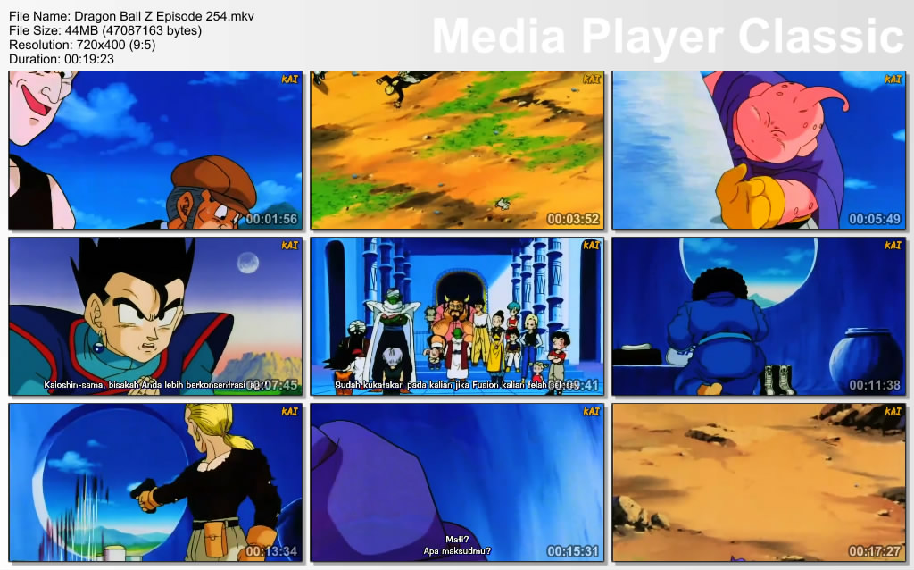Download Film / Anime Dragon Ball Z Majin Buu Saga Episode 254 Bahasa