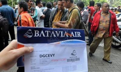 Batavia Pailit Penumpang dan Travel Jadi Korban
