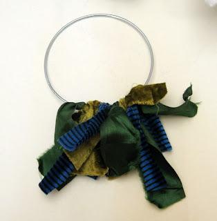 Rag wreath part way done
