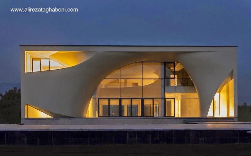 Villa Kouhsar en Irán, residencia de diseño arquitectónico ultramoderno