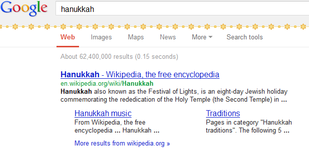 Hanukkah,Google,Easter Eggs