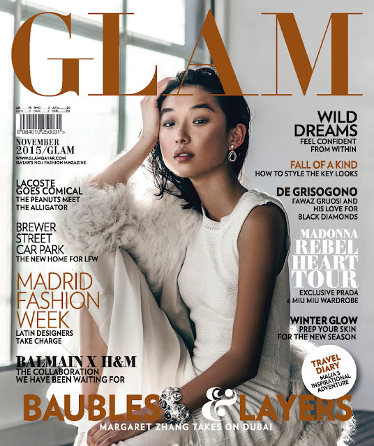 Model @ Margaret Zhang - Glam Qatar, November 2015