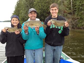 Rainbow Point Lodge smallmouth bass fishing