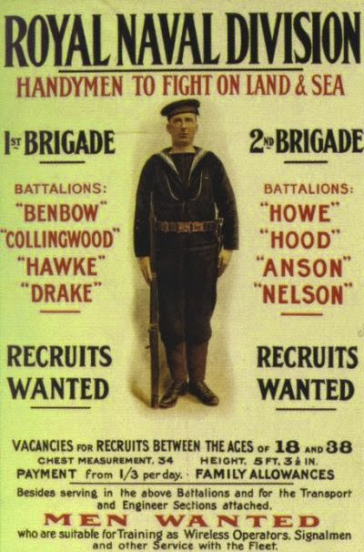 Royal Naval Division Recruiting Poster (From Wikipedia)