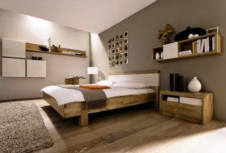 natural bedroom designs ideas using wooden floor