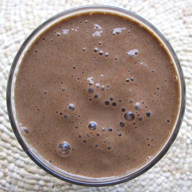 smoothie vert cacao cru courgette banane