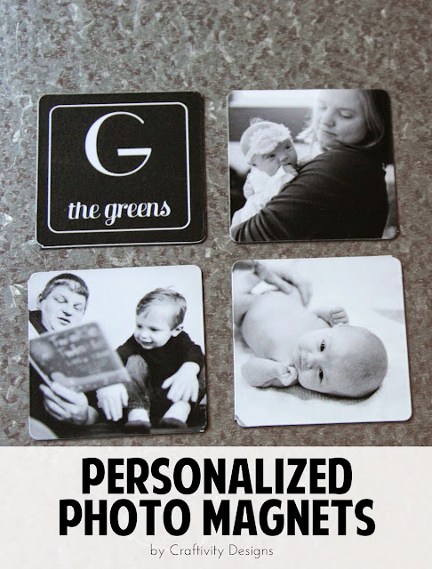 Personalized Photo Magnets // A Perfect Gift {+ 50 FREE 4x6 Prints} by Craftivity Designs