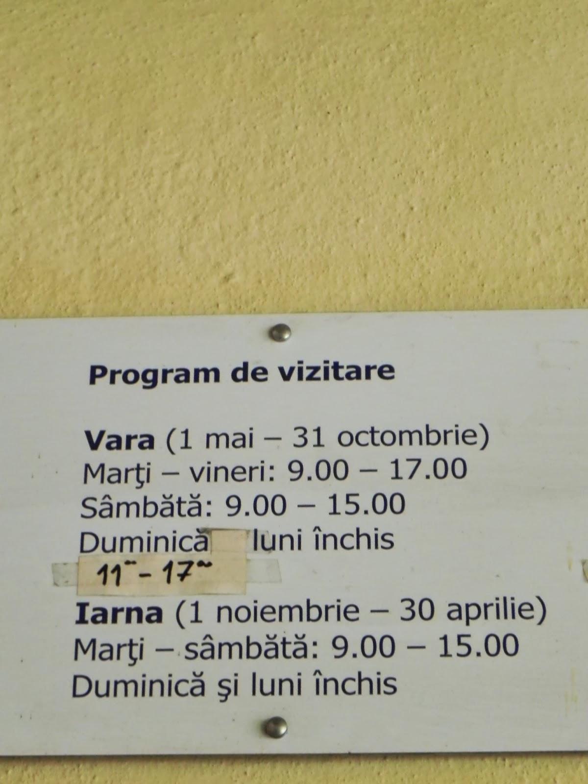 Programul de vizitare al cetatii Prejmer