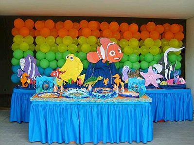 Fiestas infantiles decoraci n nemo for Pulpo para piscina