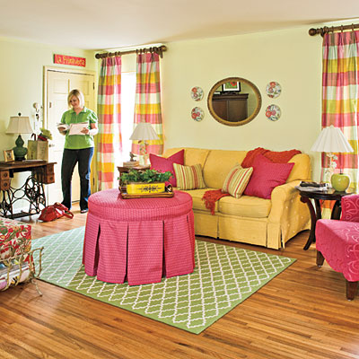 this living room is so cheerful very preppy lilly pulitzer but