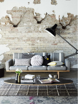 Exposed brick - Deco moderne binnenmuur ...