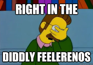 right in the diddly feelerenos.- #diddly #feelerenos #NedFlanders, #FacePalm