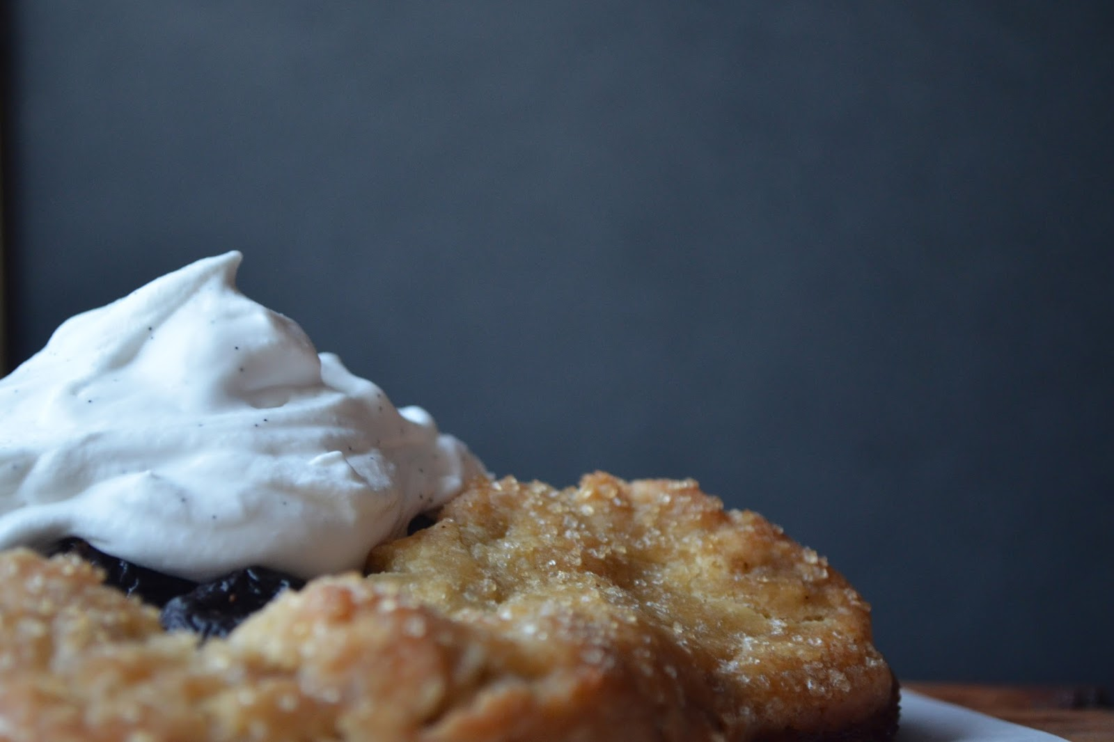 Blackberry Galette With Homemade Vanilla Whipped Cream ...