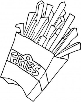 Line Drawing :: Clip Art :: Fries