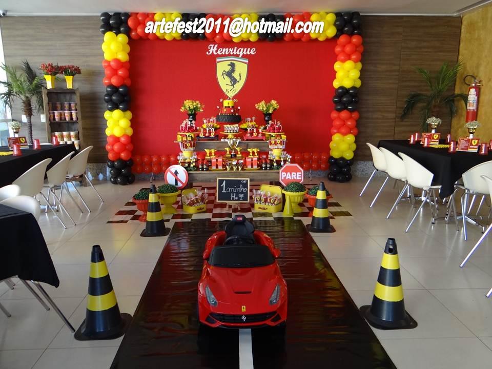 Festa Tema Ferrari