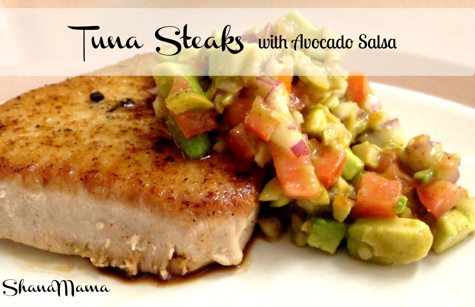 tuna steaks with avocado salsa 2 tuna steaks sea salt
