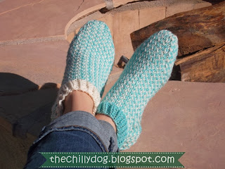 Stay cozy this winter with free his and hers patterns for knit slipper socks | The Chilly Dog