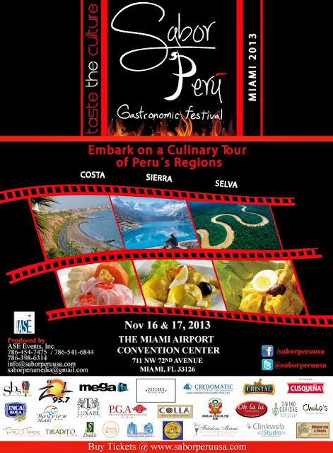 """Sabor Peru 2013- Taste a culture"" comes back to Miami on November 16, 17"
