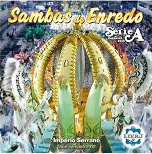 Capa do CD Sambas Enredo Série A do Rio de Janeiro do Carnaval 2013